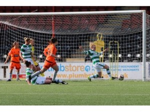 Clare Shine scores the winning goal