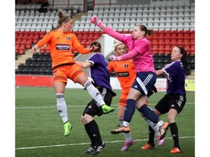 Glasgow City v Glasgow Girls action shot by Andy Buist
