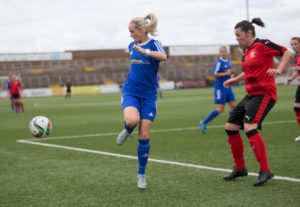 Forfar Farmington v Rangers Ladies in the Scottish Womens' Premier League at Station Park, Forfar